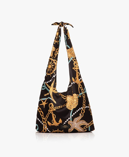 WOUF Sailor Satijnen Shopper - Zwart
