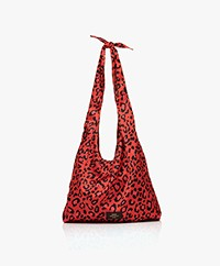 WOUF Leopard Satin Totebag - Red