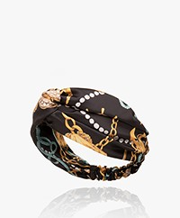 WOUF Sailor Satin Headband - Black
