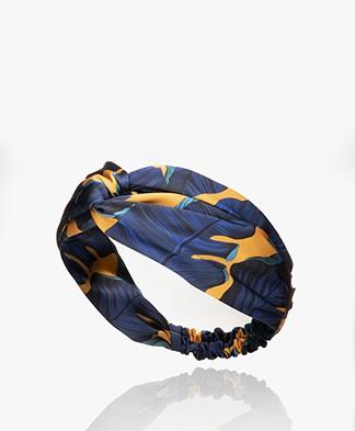 WOUF Barbados Satijnen Haarband - Blauw