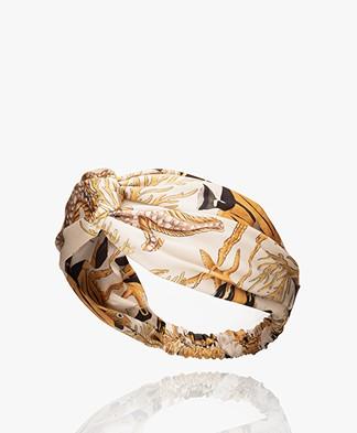 WOUF Fish Satijnen Haarband - Ecru