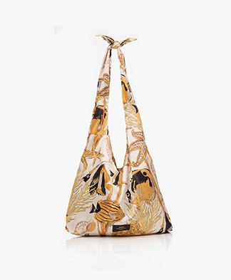 WOUF Fish Satin Totebag - Ecru