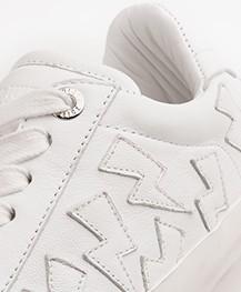 Zadig & Voltaire Flash Leren Sneakers - Wit