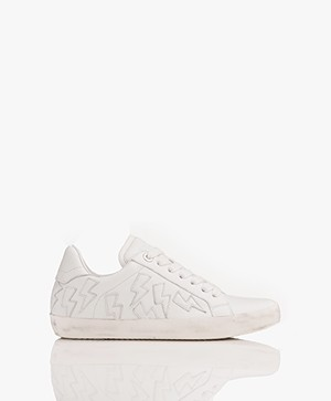 Zadig & Voltaire Flash Leren Sneakers - Wit