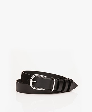 IRO Pexie Suede Belt - Black