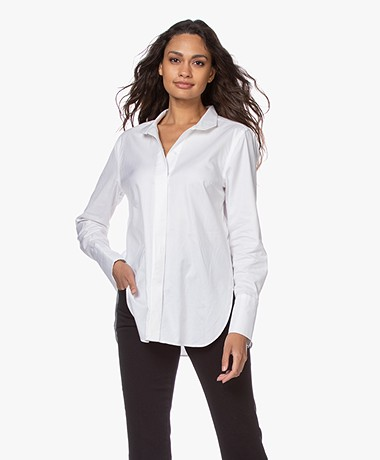By Malene Birger Leijai Herringbone Blouse - White