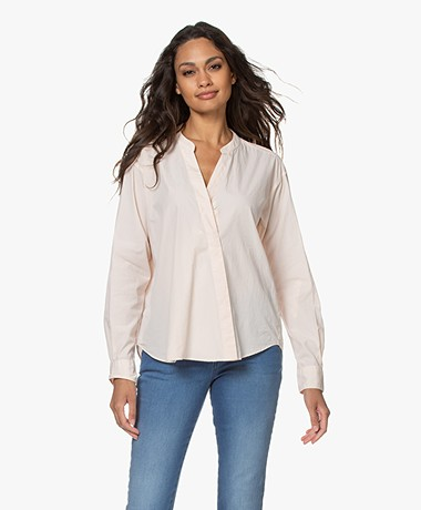 Closed Blanche Bio Cotton Poplin Blouse - Rose Quartz
