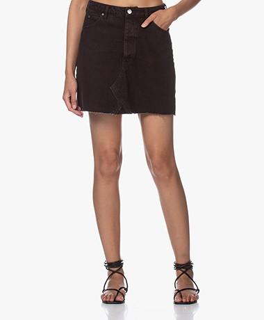 IRO Saiaun Denim A-line Mini Skirt - Black