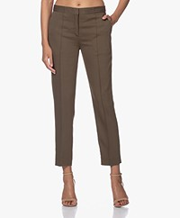 By Malene Birger Santsi Stretch Viscose Pantalon - Olive Night