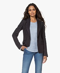 Rag & Bone Lexington Jersey Pinstripe Blazer - Navy