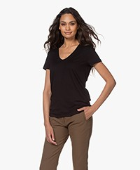 By Malene Birger Fevia Viscose T-shirt - Zwart