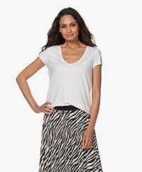 Drykorn Avivi Slub Jersey T-shirt - Off-white