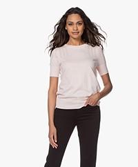 Plein Publique La Femme Pointelle Short Sleeve Pullover - Blushtime