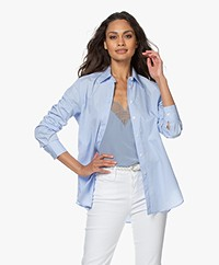Filippa K Jane Organic Cotton Poplin Shirt - Light BLue