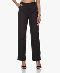 Filippa K Janet Canvas Broek - Almost Black