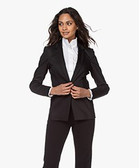 Drykorn Blazer Golders in Cotton-stretch - Black