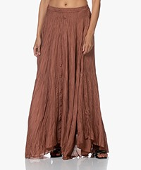 Joseph Nanco Habotai Silk Crinkle Maxi Skirt - Dusty Rose