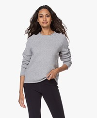 Filippa K Dahlia Wool-Cashmere Sweater - Light Grey