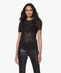 Rag & Bone Valencia Ausbrenner T-shirt - Zwart