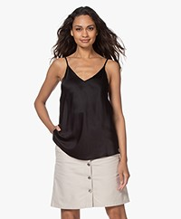 Resort Finest Satijnen Camisole Top - Zwart