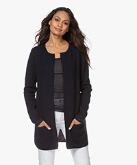 Sibin/Linnebjerg Mary Short Cardigan in Merino Blend - Navy