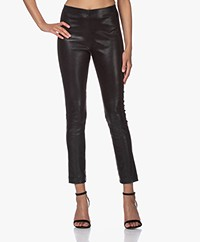 Rag & Bone Simone Leather Slim-fit Pants - Black