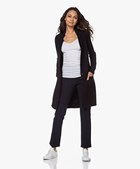 Belluna Vancouver Knee-length Cotton Cardigan - Navy