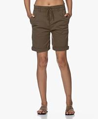 Drykorn Trainee Stretch Cotton Shorts - Khaki