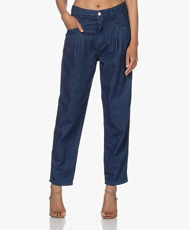 Closed Pearl Organic Cotton Mom Jeans - Dark Blue