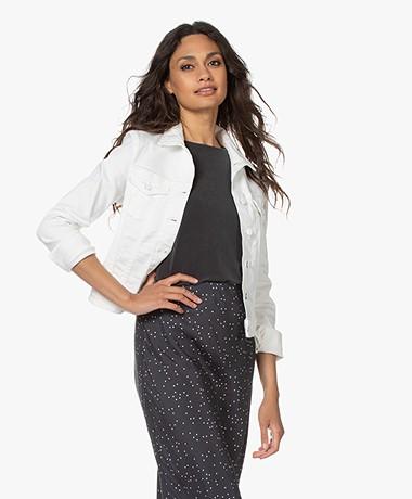 Denham Brooklyn Stretch Denim Jacket - White