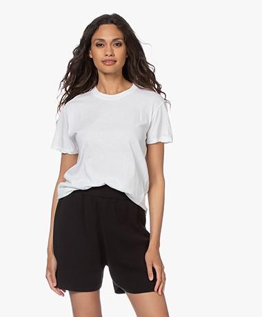 bassike Classic Slim-fit Bio Katoenen T-shirt - Wit