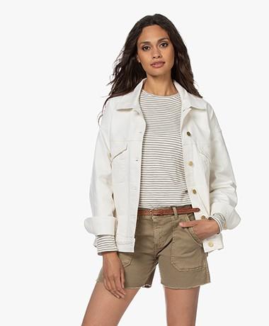 FRAME Le Oversized Cotton Denim Jacket - Au Natural