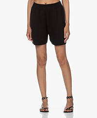 I Love Mr Mittens Knitted Lounge Shorts - Black