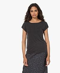 Plein Publique Le Calin Cupro T-shirt - Zwart