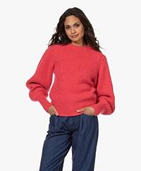 Les Coyotes de Paris Mindy Puff Sleeve Sweater - Framboise