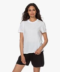 bassike Classic Slim Fit Organic Cotton T-shirt - White