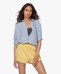 by-bar Norel Cotton Pinstripe Blouse - Indi Grey