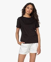 Drykorn Anisia Basic Cotton T-Shirt - Black