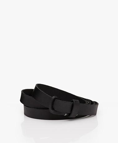 Pomandère Leather Pull-through Belt - Black