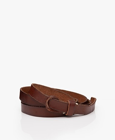 Pomandère Leather Pull-through Belt - Brown