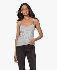 Majestic Filatures Soft Touch Spaghetti Top - Grey Melange