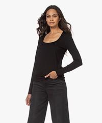 no man's land Viscose Long Sleeve T-shirt - Core Black