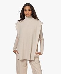 Drykorn Griffin Open Side Seams Turtleneck Sweater - Tapioca