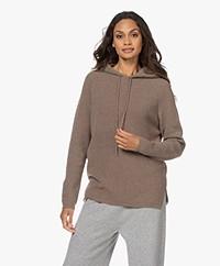 Sibin/Linnebjerg Freja Knitted Hooded Sweater - Dark Sand
