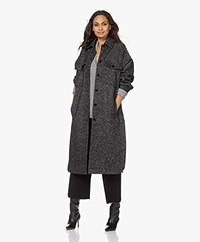 Drykorn Timbi Wool Blend Jacket - Black/Grey