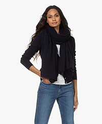 Repeat Organic Cashmere Scarf - Navy