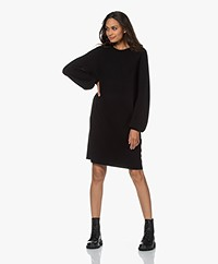 Drykorn Marisa Knitted Puff Sleeve Dress - Black