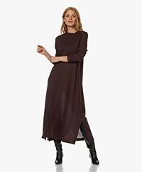 Drykorn Ilrini Modal Jersey Maxi A-line Dress - Mahogany