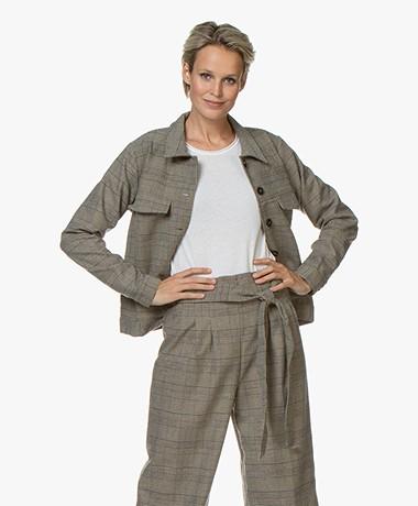 Marie Sixtine Cora Checkered Jacket - Tartan