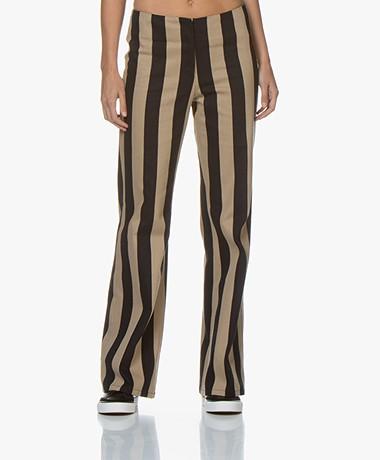 By Malene Birger Erika Striped Pants - Night Sky/Camel